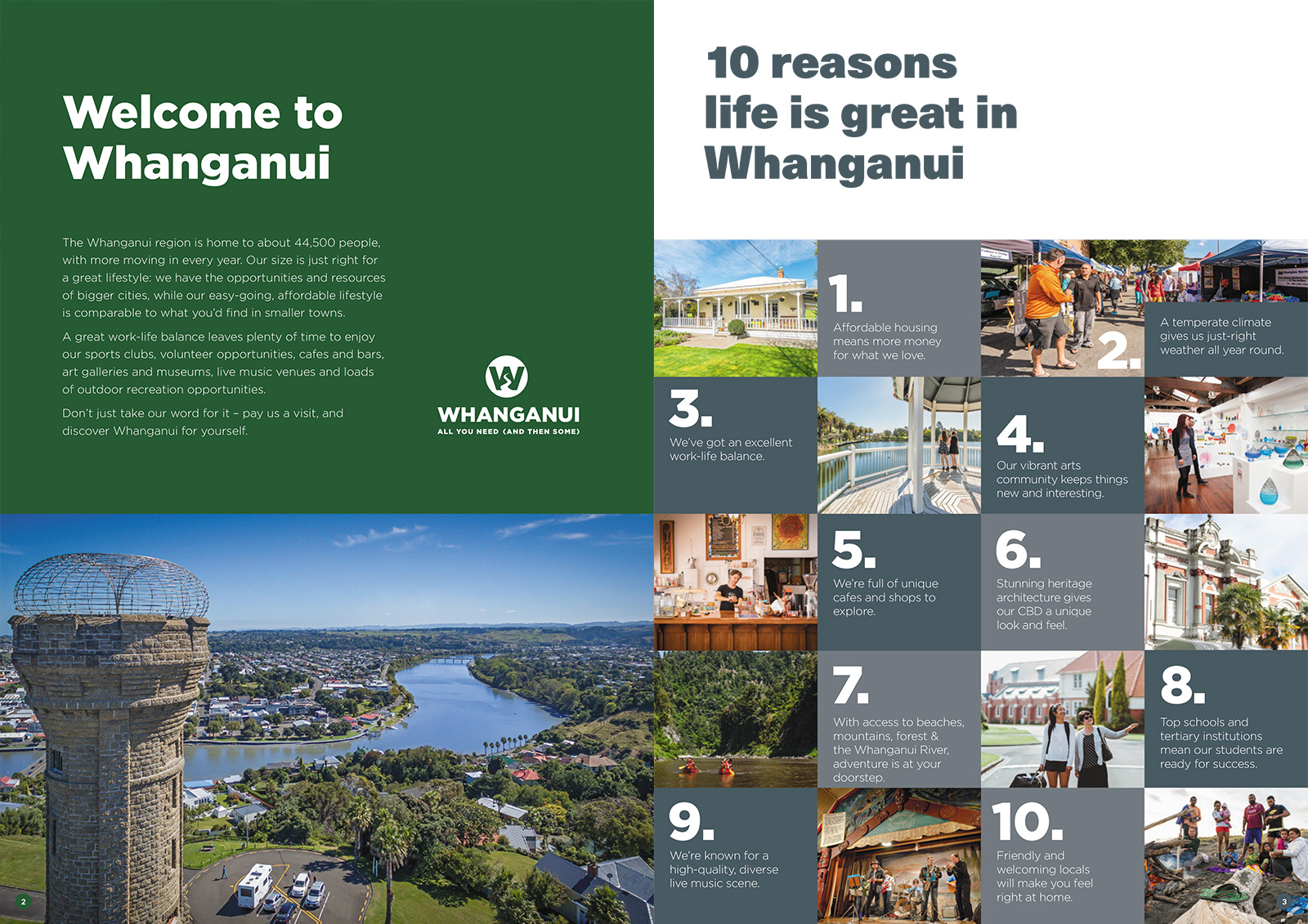 Whanganui Lifestyle Guide Booklet Design